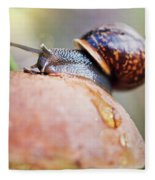 Macro World Fleece Blanket
