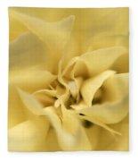 Macro Yellow Rose Fleece Blanket