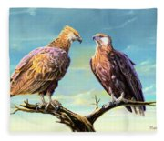 Madagascar Fish Eagle  Fleece Blanket