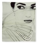 Madam Butterfly - Maria Callas  Fleece Blanket