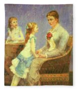 Madame Bouchet Et Ses Filles Fleece Blanket