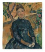 Madame Cezanne In The Conservatory Fleece Blanket