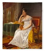 Madame Hurault De Sorbee Fleece Blanket