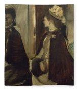 Madame Jeantaud In The Mirror Fleece Blanket