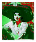 Madame Kate And The Big Hat Fleece Blanket