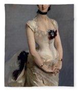 Madame Paul Poirson Fleece Blanket