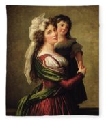 Madame Rousseau And Her Daughter Fleece Blanket