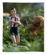 Made In China Soccer Player Fleece Blanket