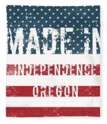 Made In Independence, Oregon Fleece Blanket