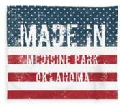 Made In Medicine Park, Oklahoma Fleece Blanket