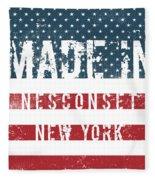 Made In Nesconset, New York Fleece Blanket