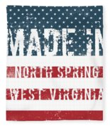 Made In North Spring, West Virginia Fleece Blanket