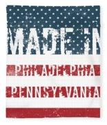 Made In Philadelphia, Pennsylvania Fleece Blanket