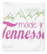 Made In Tennessee Pink Fleece Blanket