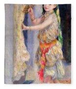 Mademoiselle Fleury In Algerian Costume Fleece Blanket