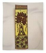 Madhubani Bookmark Fleece Blanket
