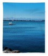 Madison Across Lake Mendota Fleece Blanket