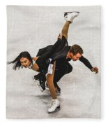 Madison Chock And Evan Bates Fleece Blanket