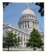 Madison Wi State Capitol Fleece Blanket