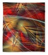 Madness Of Art Fleece Blanket