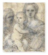 Madonna And Child Fleece Blanket
