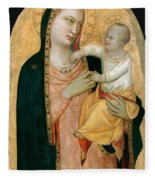 Madonna And Child Fleece Blanket