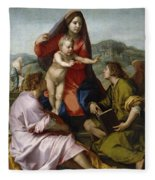 Madonna Della Scala. Virgin Of The Stairs Fleece Blanket
