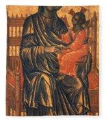 Madonna Icon, 13th Century Fleece Blanket