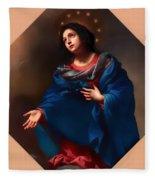 Madonna In Glory Fleece Blanket