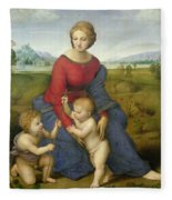 Madonna In The Meadow Fleece Blanket