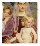 Madonna Of Giverny, 1901 Detail Fleece Blanket