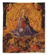 Madonna Of Humility With Christ Child And Angels Fleece Blanket