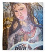 Madonna Of The Racket Fleece Blanket