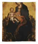 Madonna With Angels 1410 Fleece Blanket