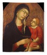 Madonna With Child Fleece Blanket