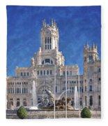 Madrid City Hall Fleece Blanket