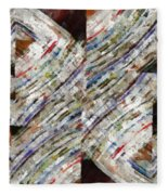 Mag 6 Abstract Painting Fleece Blanket
