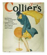 Magazine Cover, 1930 Fleece Blanket