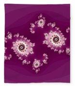 Magenta Galaxies Fleece Blanket