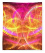 Magenta Moth Fleece Blanket