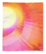 Magenta Orange Sunshine Fleece Blanket