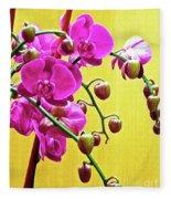 Magenta Orchid 3 Fleece Blanket