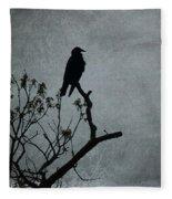 Magestic Crow Fleece Blanket