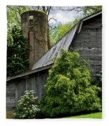Maggie Valley Barn Fleece Blanket