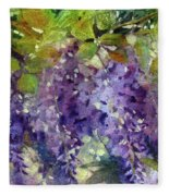 Magic In Purples And Greens Fleece Blanket