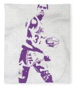 Magic Johnson Los Angeles Lakers Pixel Art Fleece Blanket