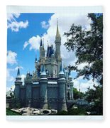Magic Kingdom Cinderella's Castle #3 Fleece Blanket