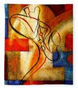 Magic Saxophone Fleece Blanket