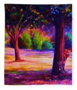 Magical Day In The Park Fleece Blanket