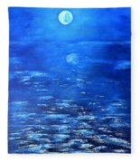 Magical Full Moon Fleece Blanket